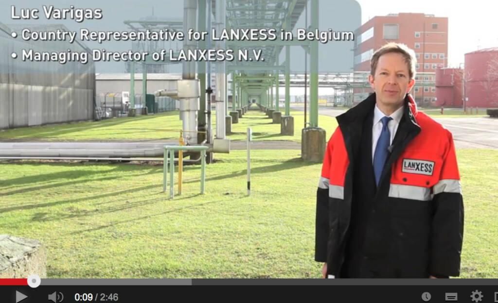 Lanxess mit Soft News aus Belgien, der zweitwichtigtsten Region für das Unternehmen, siehe http://www.youtube.com/watch?v=H7cScXTMqZM  (26.01.2014)