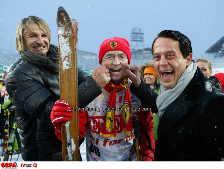 Sporthilfe Charity Race. Bild zeigt Leo Hillinger, Heribert Kasper und Gregor Glanz. Foto: GEPA pictures/ Wolfgang Grebien