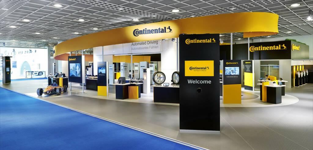 Der Continental-Stand auf der IAA 2013., © Continental AG (Homepage) (03.02.2014)