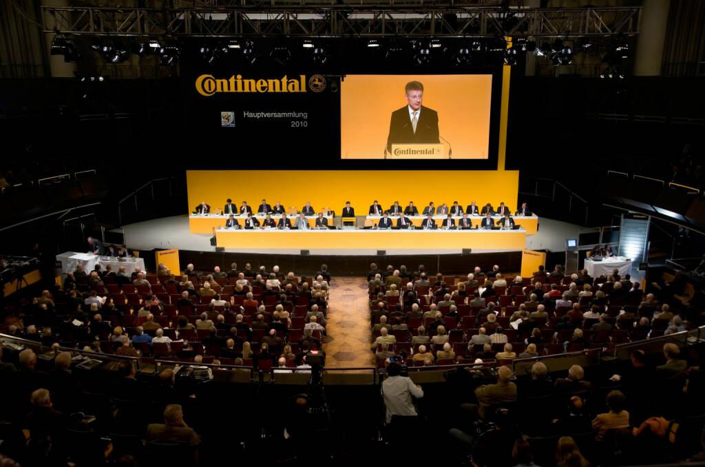 Die Hauptversammlung 2010 der Continental AG fand am 28. April im Kuppelsaal/Congress Centrum Hannover statt. , © Continental AG (Homepage) (03.02.2014)