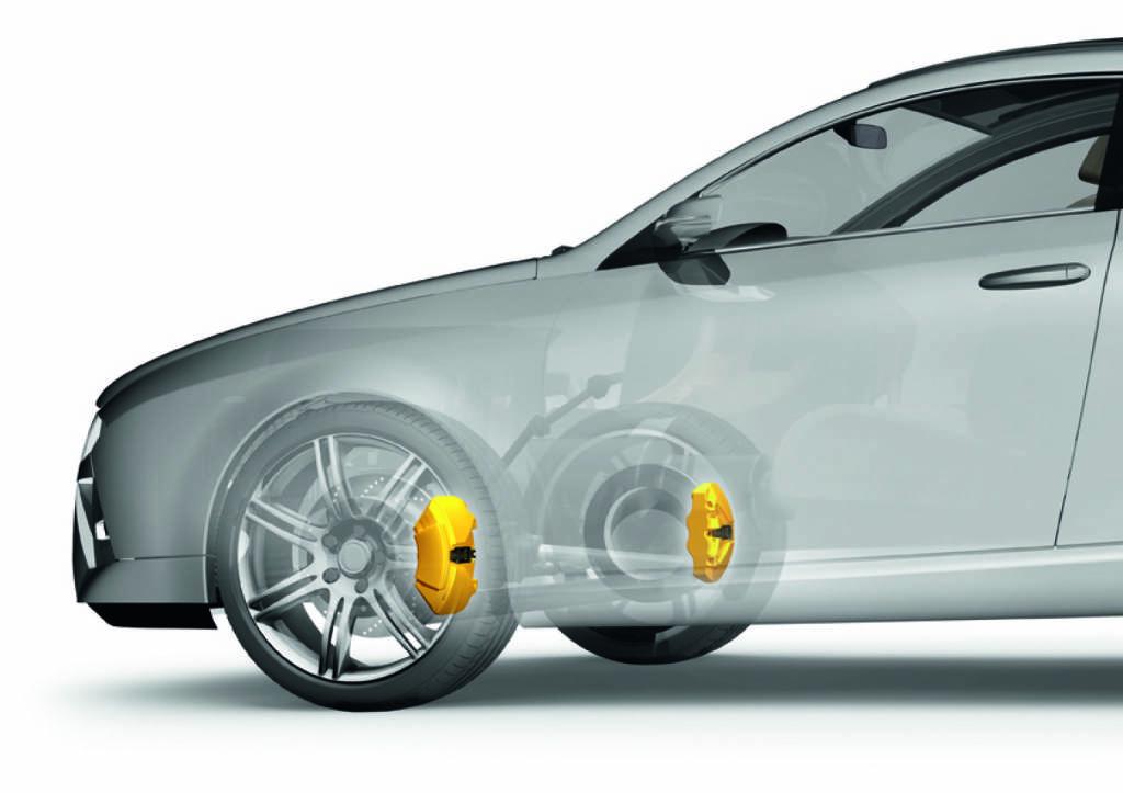 Bild der Aufstellung des Festsattels im 3D Generic Car, Continental AG  , © Continental AG (Homepage) (03.02.2014)
