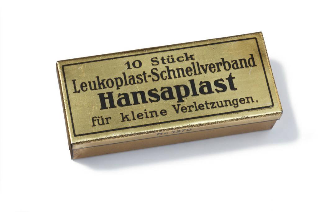 Hansaplast Verpackung 1922, Beiersdorf, © Beiersdorf AG (Homepage) (06.02.2014)