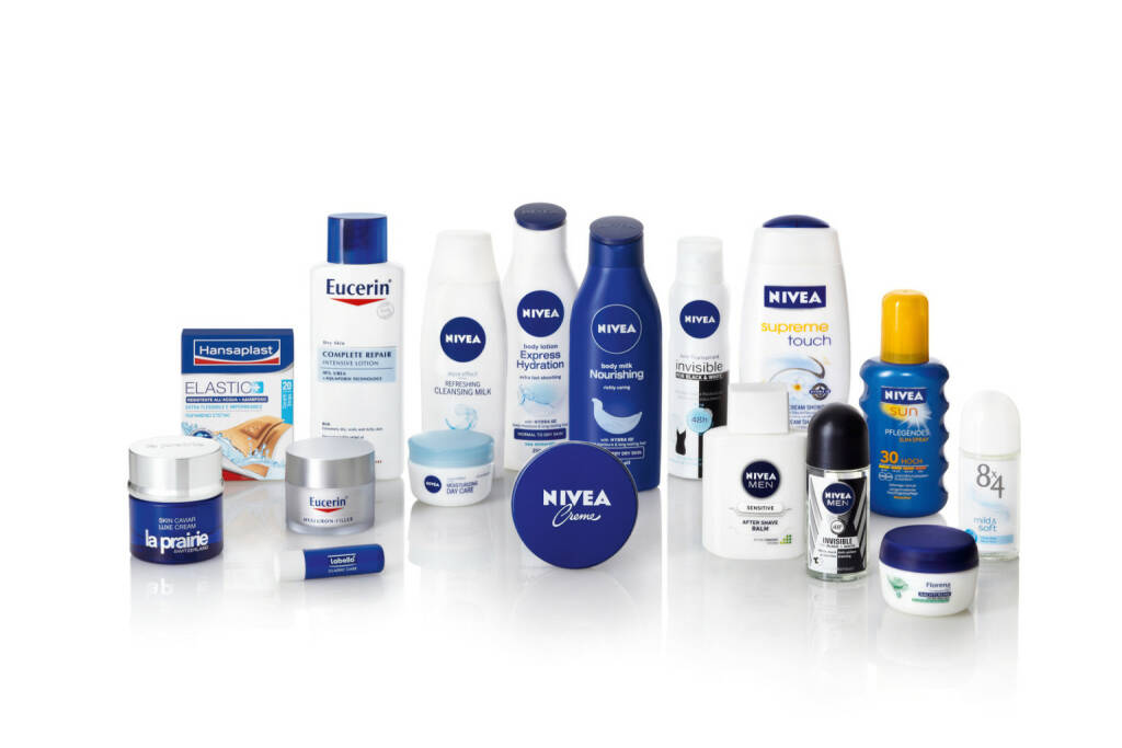 Beiersdorf Markenportfolio – ohne tesa, © Beiersdorf AG (Homepage) (06.02.2014)