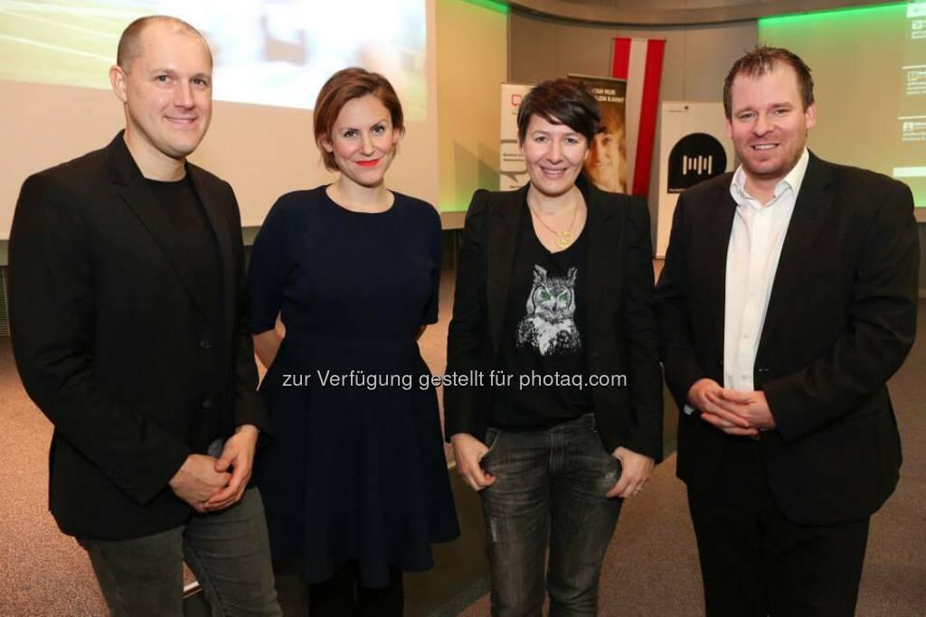 Dani Terbu, Dieter Zirnig, Katja Hentschel, Rudi Fußi (Bild: Katharina Schiffl) (10.02.2014)