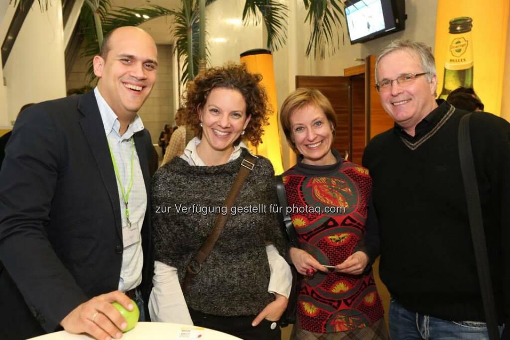 Eva Mandl, Martin Wilfing, Sabine Hoffmann, Martin W. Kaindel (Bild: Katharina Schiffl) (10.02.2014)