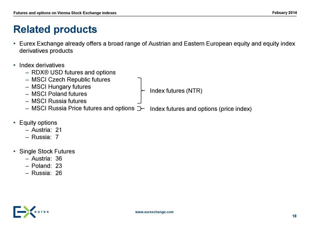 Related products, © eurexchange.com (11.02.2014)