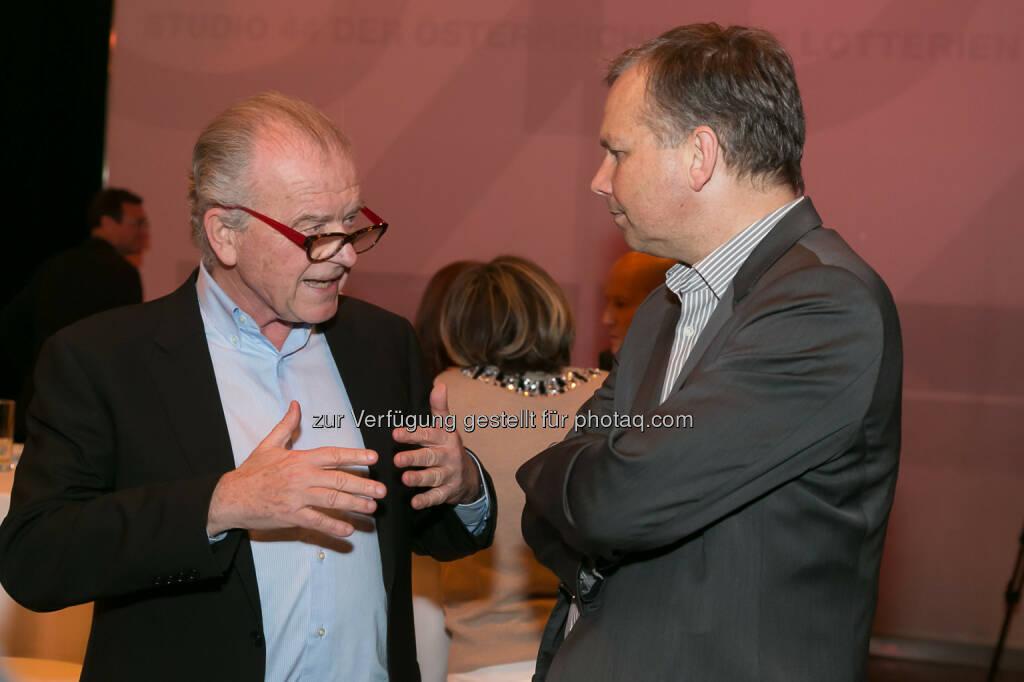 Rudi Klausnitzer (Medienberater), Horst Pirker (Medecco, Verlagsgruppe News), © Der österreichische Journalist/APA-Fotoservice/Schedl (13.02.2014)