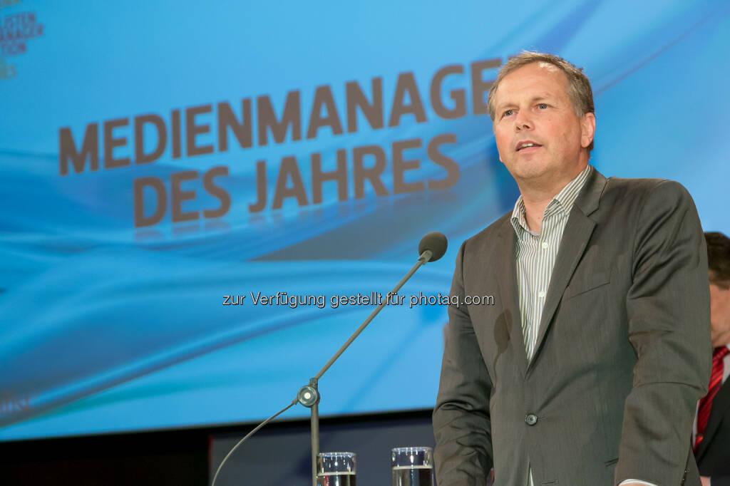 Horst Pirker (Medecco, Verlagsgruppe News), © Der österreichische Journalist/APA-Fotoservice/Schedl (13.02.2014)