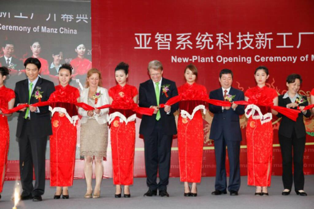 Feierliche Eröffung der neuen Firmengebäude von Manz China Suzhou Ltd., 15.05.2012, © Manz AG (Homepage) (14.02.2014)