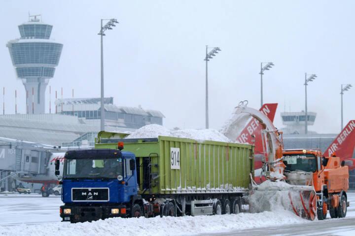 Flughafen Muenchen, Winter, Schnee, Lufthansa AG, (C) Kerstin Roßkopp