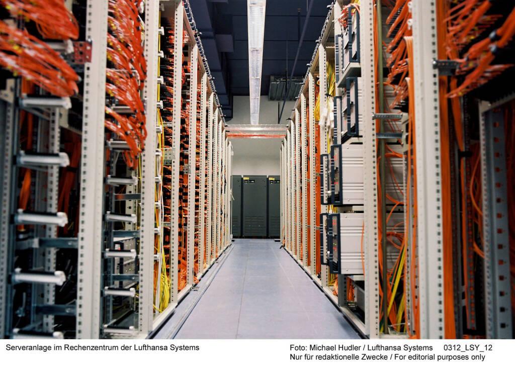 Serveranlage im Rechenzentrum der Lufthansa Systems Foto: Michael Hudler, © Lufthansa AG (Homepage) (17.02.2014)