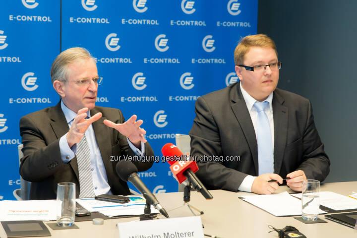 Wilhelm Molterer, Vizepraesident E-Control und Mitglied des Direktoriums der Europaeischen Investitionsbank, Martin Graf, Vorstand der Energie-Control Austria