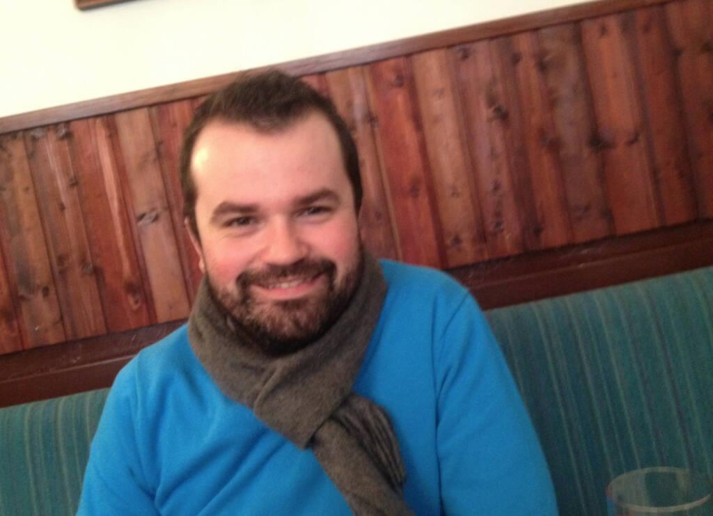 Mit wikifolio-Manager Stefan Greunz beim Zwischenbrückenwirt eine kleine Börse Social Network / Fachheft-Aktion im Rahmen der Deutsche Anlegermesse Frankfurt vorbesprochen. Danke, Stefan! (18.02.2014)
