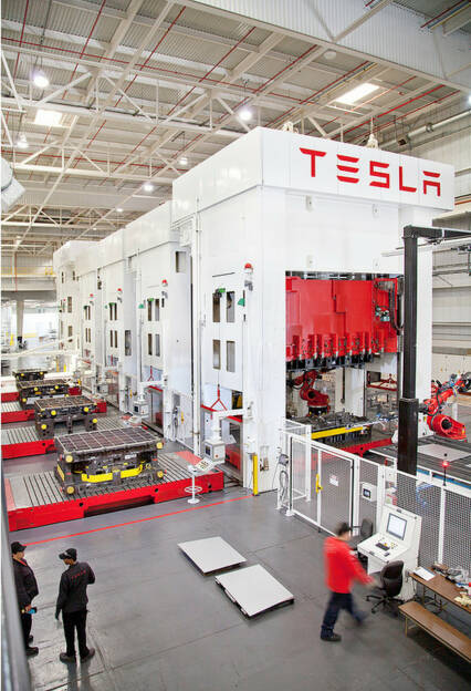 Tesla Motors, Stamping, © Tesla Motors Inc. (Homepage) (22.02.2014)