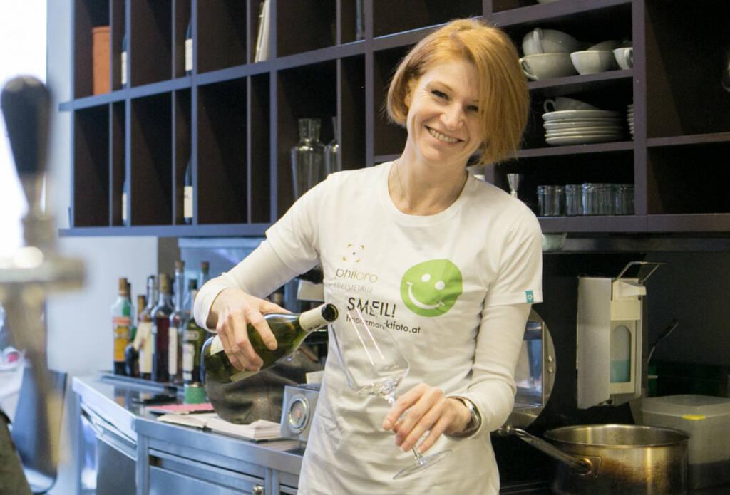 Isabelle Berger-Frantzen, Cote Sud (Smeil Shirt in der philoro-Kollektion), © finanzmarktfoto.at/Martina Draper (24.02.2014)