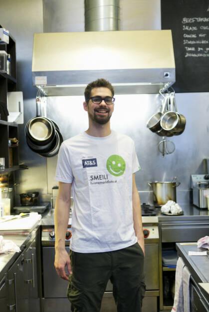 Werner Tschiedel, Cote Sud (Smeil Shirt in der AT&S-Kollektion), © finanzmarktfoto.at/Martina Draper (24.02.2014)
