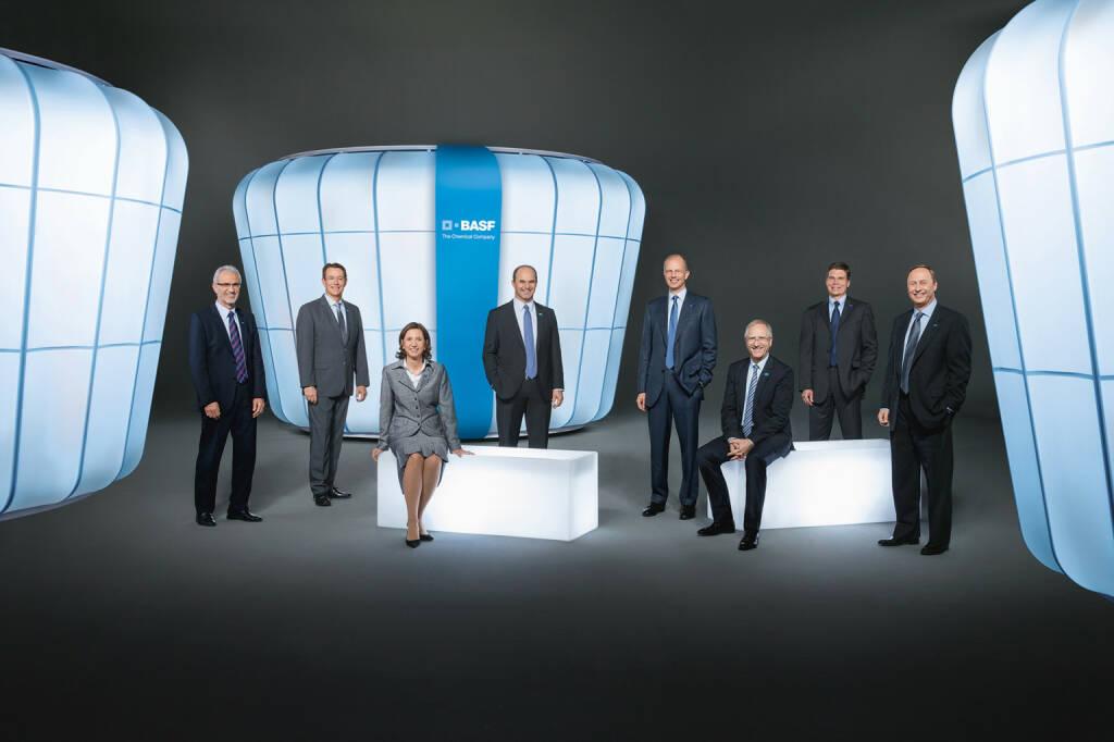 Harald Schwager, Michael Heinz, Margret Suckale, Martin Brudermüller, Kurt Bock, Andreas Kreimeyer, Hans-Ulrich Engel, Wayne T. Smith (alle Vorstand BASF)   , © BASF (Homepage) (25.02.2014)