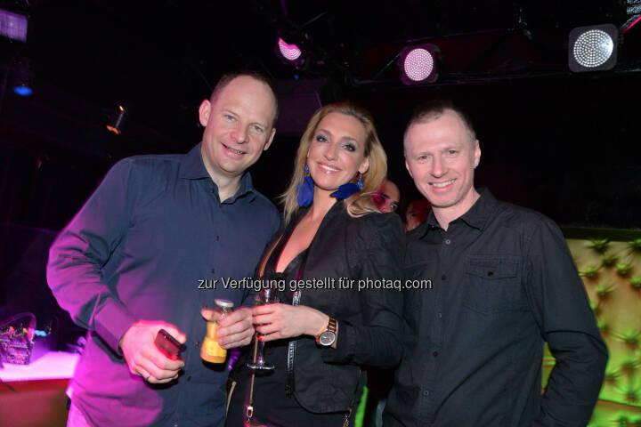 Eventexperte Alexander Knechtsberger, Cineplexx-Marketerin Tanja Schober, Austro-DJ Alex List