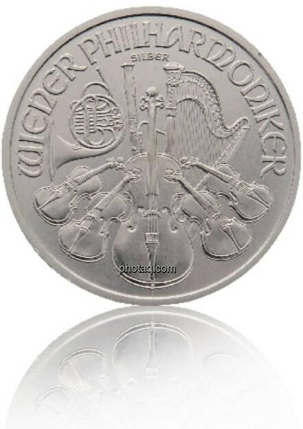 Philharmoniker Silber 1/1 Hersteller: Münze Österreich Herkunftsland: Österreich Durchmesser: 37,00 mm Dicke: 3,20 mm Bruttogewicht: 31,103 Feinheit: 999,9 Erstprägung: 2008, © philoro für ein Fachheft (26.02.2014)