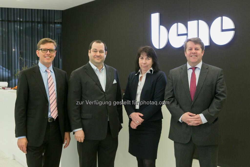 Gerold Pinter (Wohninvest), Daniel Riedl (Buwog), Doris Ritzberger-Grünwald (OeNB), Michael Ehlmaier (EHL), © Martina Draper für den BE (27.02.2014)