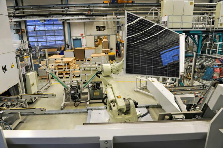 Solarzellen - Rahmung, SolarWorld AG