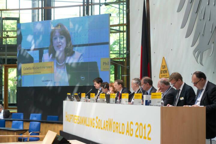 Solarworld Hauptversammlung 2012