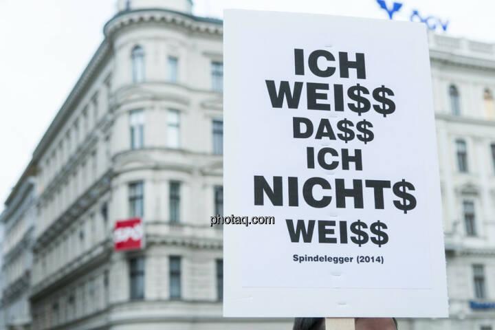 Ich weiss, dass ich nichts weiss - Hypo Demonstration in Wien am 18.03.2014
