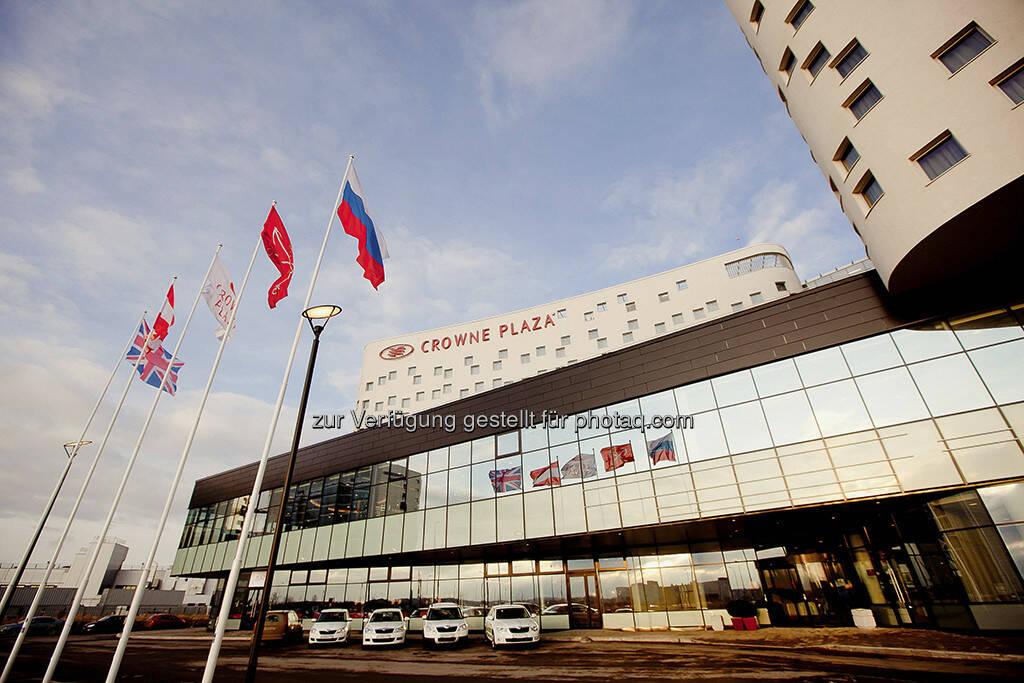 Crowne Plaza St.Petersburg Airport, St. Petersburg, Russland. Warimpex, CA Immo und UBM vermietet zwei Drittel ihrer Büroräumlichkeiten in der AIRPORTCITY St. Petersburg an Gazprom Invest Zapad, (Foto: Warimpex) (15.12.2012)