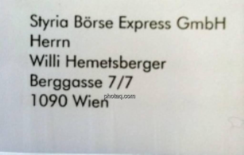 War Salzburg-340-Mio.Prüfer Willi Hemetsberger mal beim Börse Express angesiedelt? War er nicht, hat aber viel Werbepost bekommen ... (15.12.2012)
