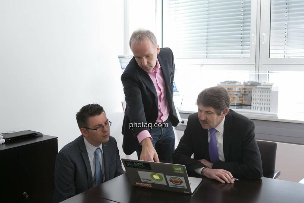 Bosko Skoko (S Immo), Christian Drastil, Ernst Vejdovszky (S Immo), © finanzmarktfoto.at/Martina Draper (27.03.2014)