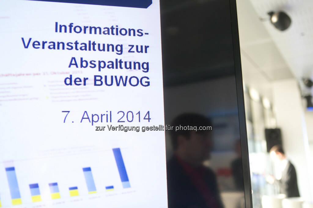 Immofinanz: Informationsveranstaltung zur Abspaltung der Buwog, siehe auch: http://blog.immofinanz.com/de/2014/04/09/immofinanz-infos-rund-um-buwog-abspaltung/ , © Martina Draper für Immofinanz (07.04.2014)