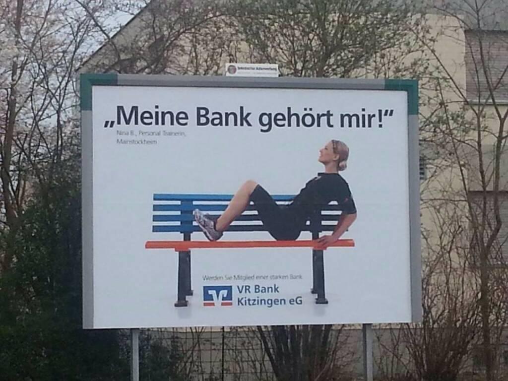 Meine Bank gehört mir. Die VR Bank Kitzingen wirbt mit Nina Bergmann, http://www.finanzen.at (08.04.2014)