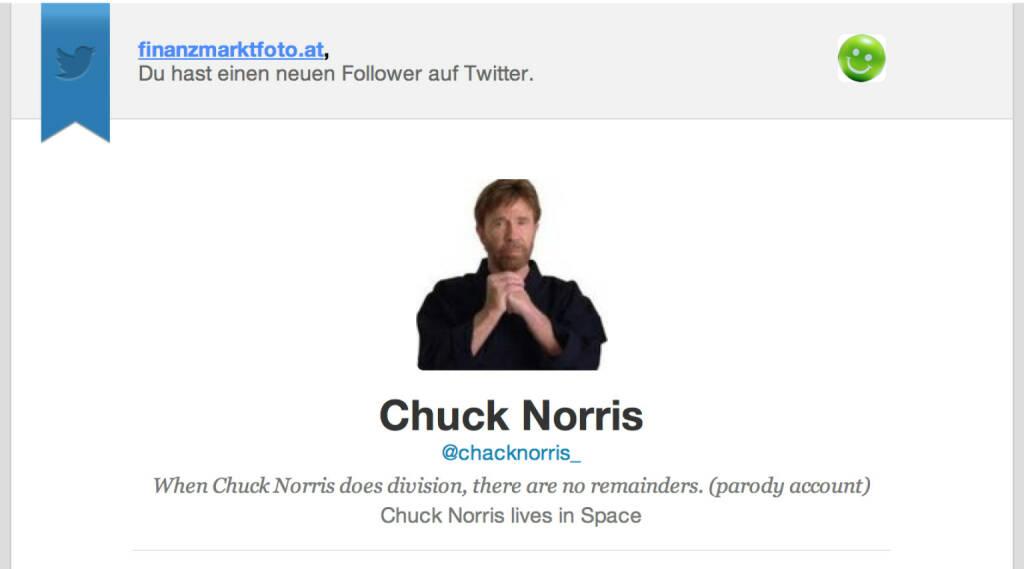 Chuck Norris haben wir von finanzmarktfoto.at nicht getroffen, aber er (ver)folgt uns jetzt (11.04.2014)