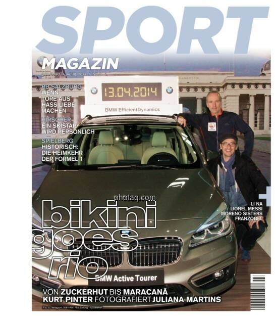 Sport Magazin Cover, Chladek, Drastil BMW, © Josef Chladek finanzmarktfoto.at (11.04.2014)