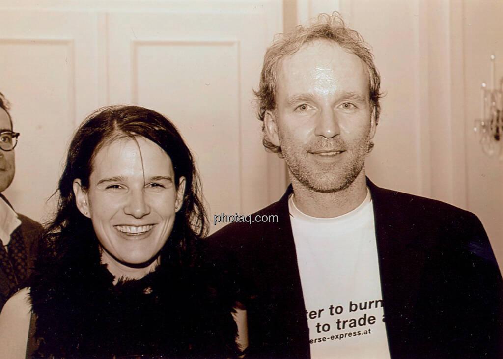 Better to burn out than to trade away: Bettina Schragl , Christian Drastil - damals Arbeitskollegen, irgendwann Mitte der Ende der Nullerjahre bei einem  Konzert der Rockbroker (12.04.2014)