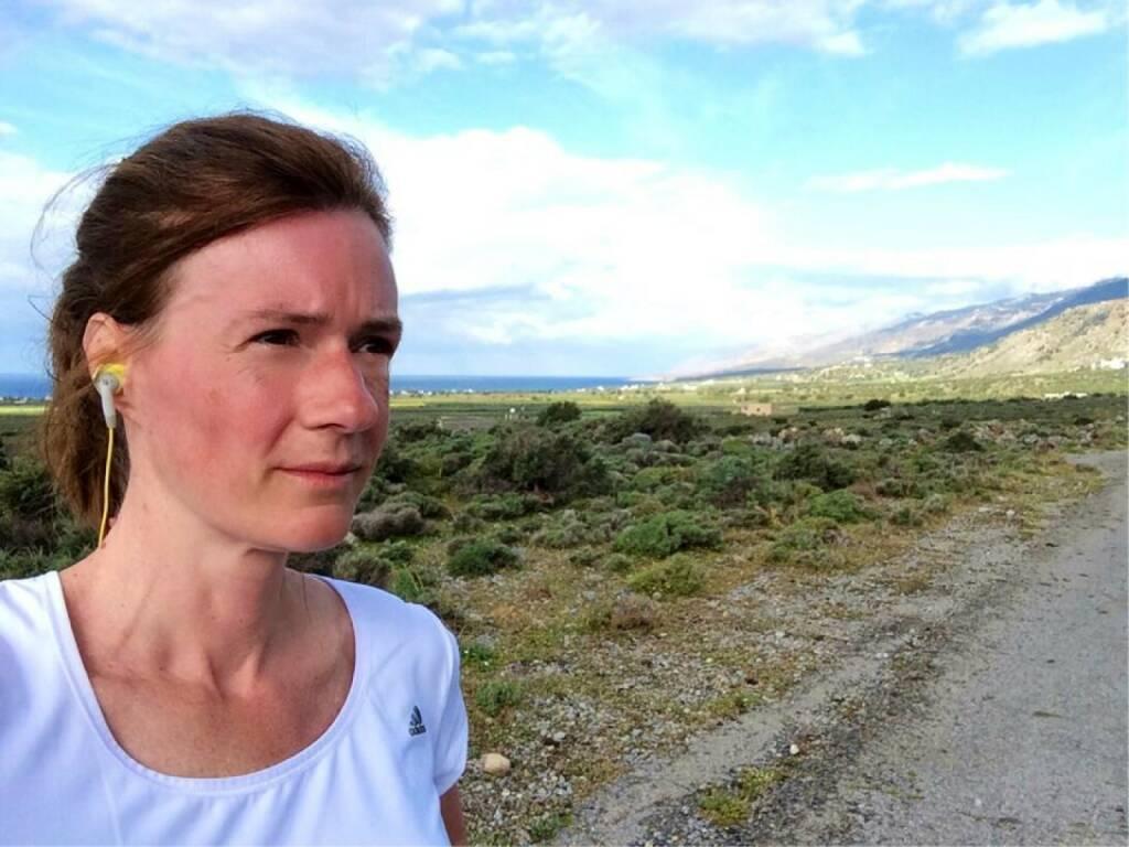 Kretatesterin: Martina Draper betatestet Runplugged auf Kreta (19.04.2014)