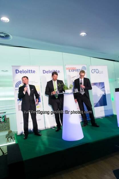 Franz Wohlfahrt (Novomatic), Gerhard Marterbauer (Deloitte), Gerald Jobst (Egger), © Martina Draper für BE  (27.04.2014)