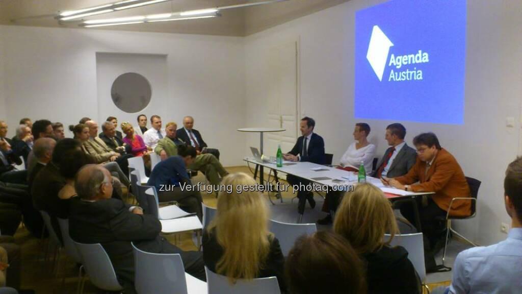 Agenda Austria - Podiumsdiskussion zum Thema Wie gerecht sind Erbschaftsteuern?  Source: http://twitter.com/AgendaAustria (24.04.2014)