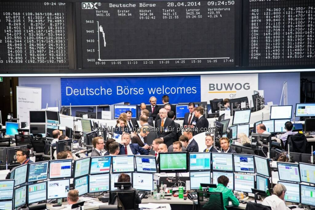 Deutsche Börse welcomes Buwog, © Immofinanz (29.04.2014)