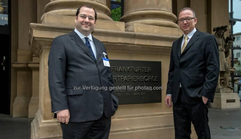 Daniel Riedl, Ronald Roos (Buwog), © Immofinanz (29.04.2014)