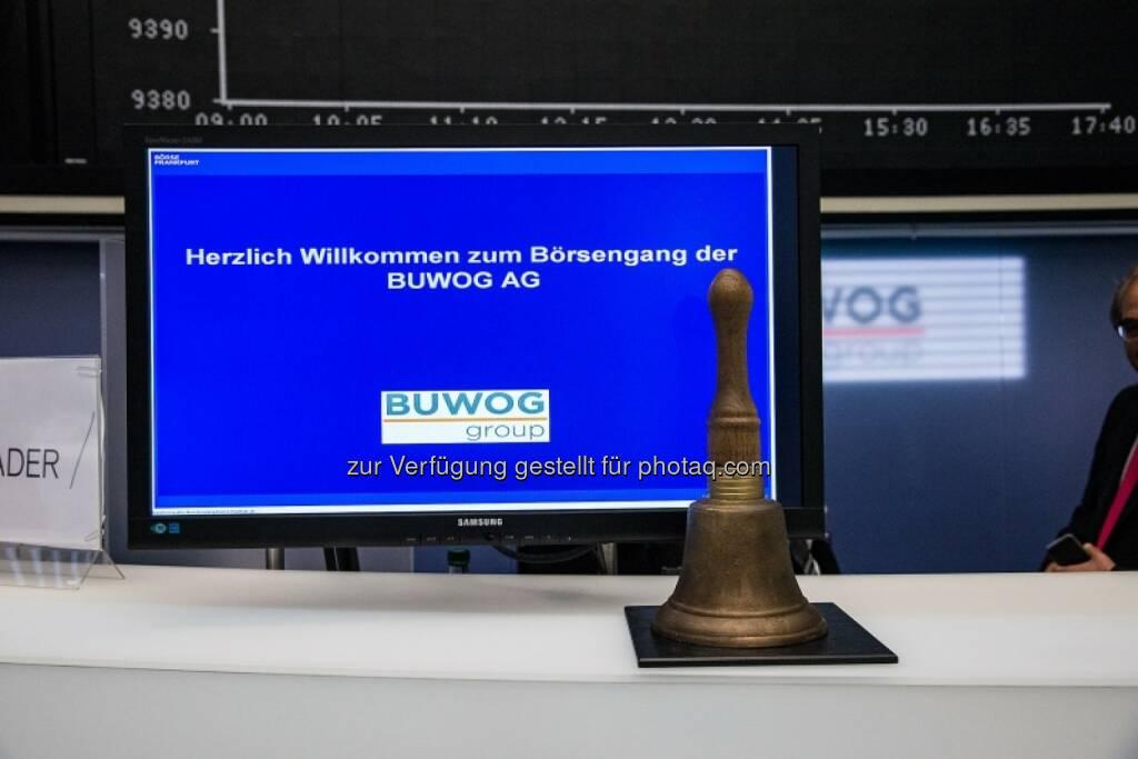 Herzlich Willkommen zum Börsengang der Buwog, Glocke, © Immofinanz (29.04.2014)