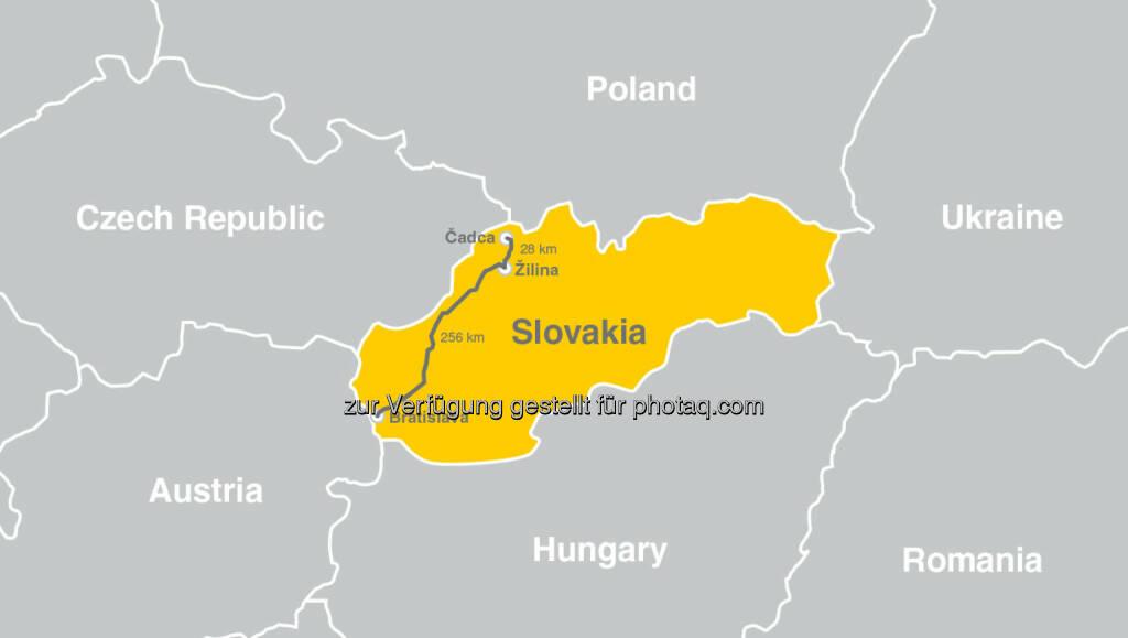 Kapsch stattet 250 km Bahnstrecke von Bratislava bis zur tschechischen Grenze mit GSM-R Technologie aus. (Bild: Kapsch AG) (29.04.2014)