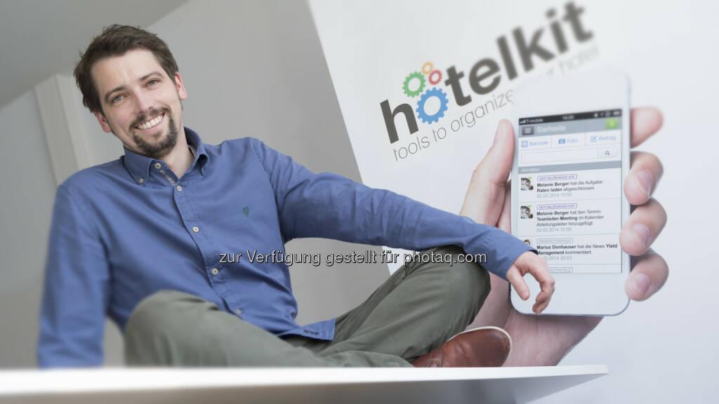 Marius Donhauser (hotelkit GmbH) - Social Intranet für Hotels gewinnt den Salzburger Wirtschaftspreis (Bild: WKS/Hauch) (29.04.2014)