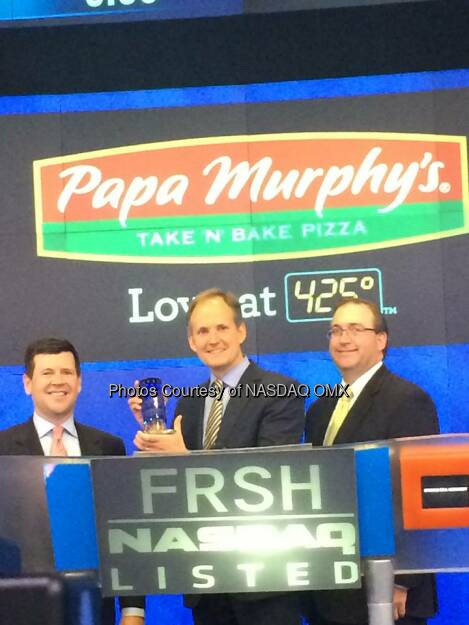 Papa Murphy's at the #NASDAQ #OpeningBell in celebration of its #IPO today! Source: http://facebook.com/NASDAQ (02.05.2014)