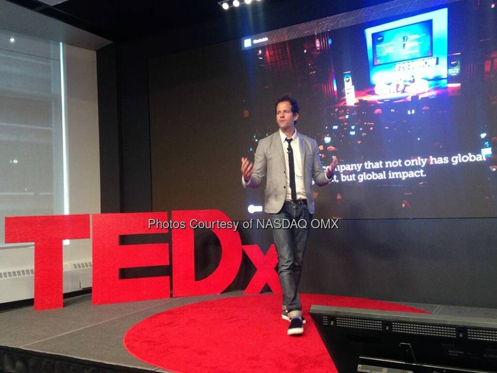 Michael Kriak, COO Mashable TEDxTimesSquare   Source: http://facebook.com/NASDAQ (03.05.2014)