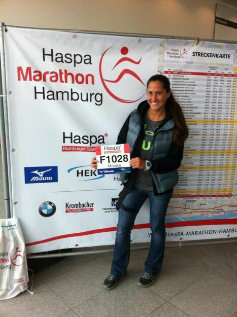 Runplugged Betatesterin Monika Kalbacher startet am 4.5. beim Hamburg Marathon https://www.facebook.com/kalbacher.monika (03.05.2014)