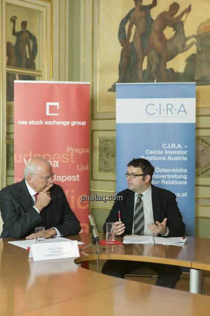 Claus Raidl (ÖNB) im Talk mit Bloomberg, © Martina Draper (15.12.2012)