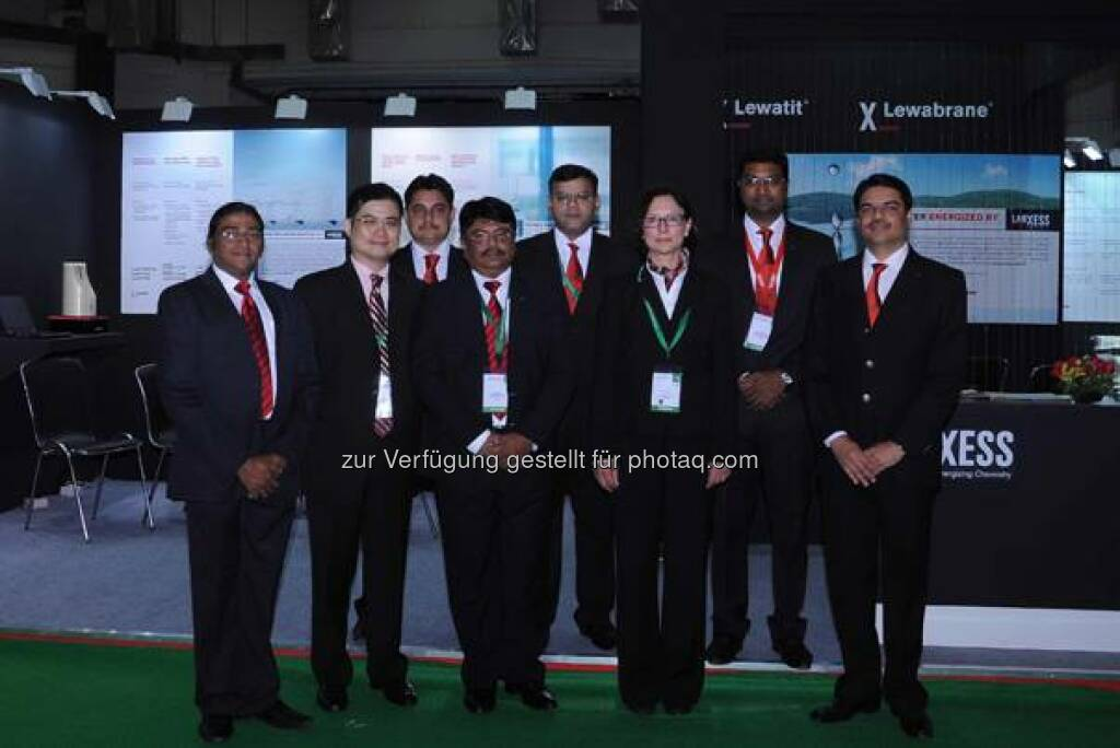 Lanxess bei dert Aquatech India 2014, New Delhi, on May 6 – 8, 2014. Source: http://facebook.com/LANXESS (06.05.2014)