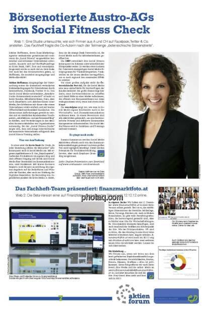 Börsenotierte Austro-AGs im Social Fitness Check - Sabine Hoffmann (21.12.2012)