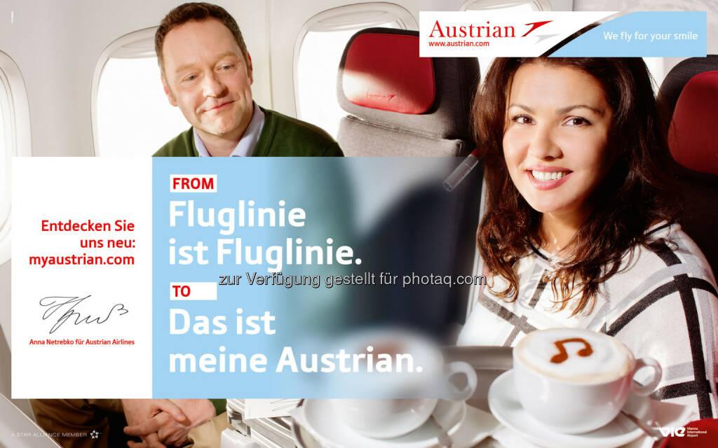 Anna Netrebko neues Austrian Airlines Werbegesicht (07.05.2014)